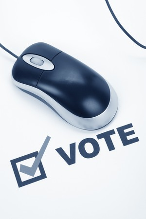 Vote and Computer mouse, Online Voting Stock Photo - 4021016