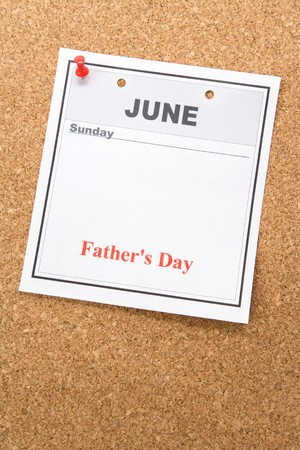 Fathers Day, calendar date in June for background photo
