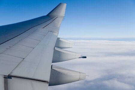Airplane Wing close up shot