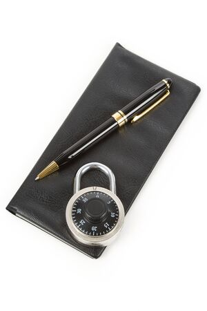 Checkbook and Lock, concept of Recession or Safety