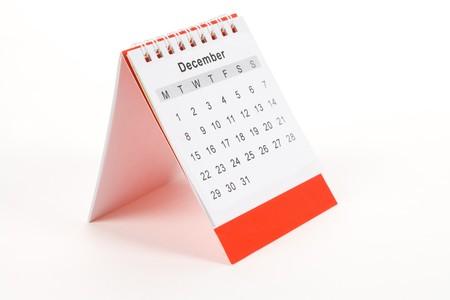 december kalender: Agenda december close up shot