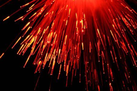 fiber cable: Fiber kabel met rood licht