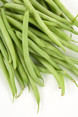 green bean: Green Bean with white background Stock Photo