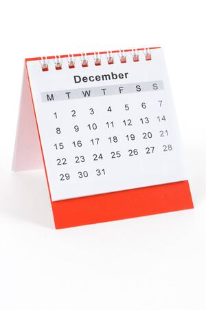 december: Calendar December close up shot Stock Photo