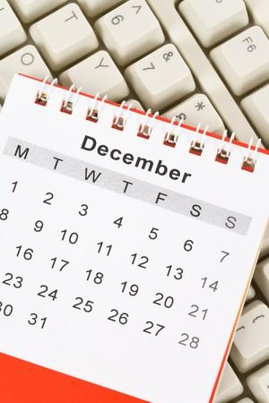 december: Calendar and Keyboard, December