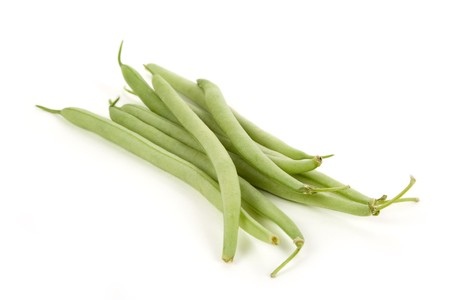 Green Bean with white background photo
