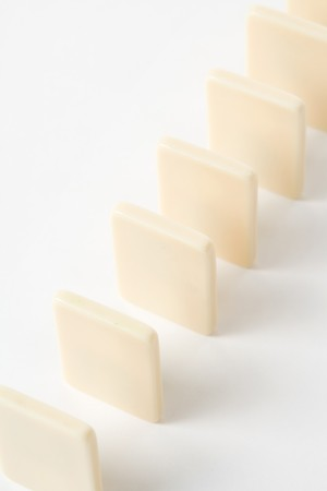 cause: Domino close up, Concept of Cause or Teamwork