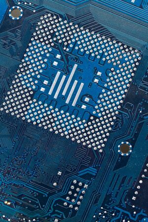 Computer Circuit Board close up shot