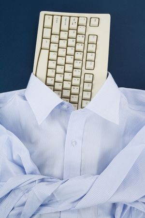 Shirt and Computer Keyboard, Business Concept