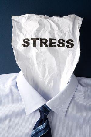紙の顔とストレス、ビジネス コンセプト