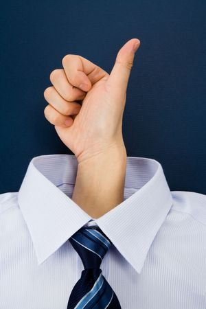 Thumbs Up and shirt, Business Concept