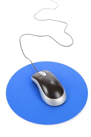 Computer Mouse and pad, Concept of internet Stock Photo - 4700998