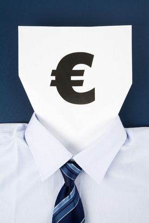 Paper Face and European Dollar Sign, Business Concept