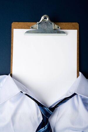 空白の紙の顔、ビジネス コンセプト 写真素材