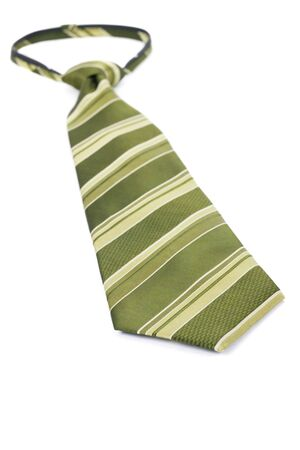 Green Necktie close up shot Stock Photo