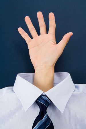 a hand gesture and shirt, Business Concept Imagens