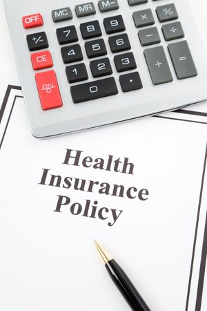 Document of Health Insurance Policy and calculator,  for background