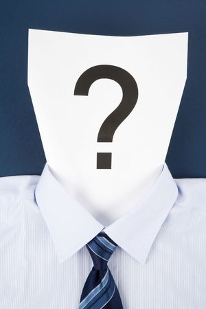 Paper Face and Question Mark, Business Concept photo