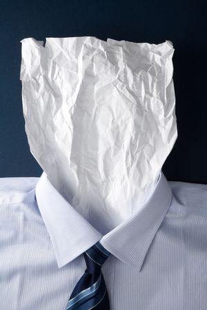 Blank Paper Face, Business Concept photo