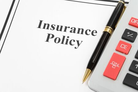 Document of Insurance Policy and calculator,  for background