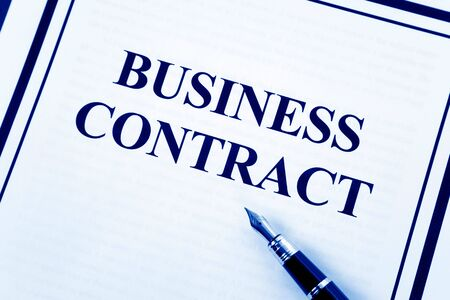 Business Contract and pen close up Stock Photo - 4822939