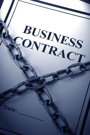Business Contract and Chain, business concept