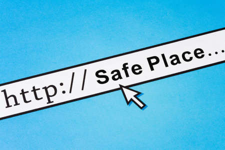 concept of online Safe Place, Social Issues Stock Photo - 4849887