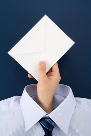 Hand holding an Envelope, Business Concept Stok Fotoğraf