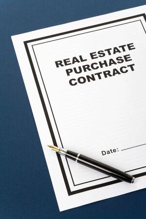 Real Estate Purchase Contract, business concept Banco de Imagens