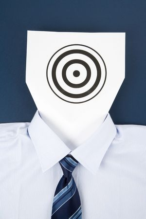 Paper Face and Business Target, Business Concept Banque d'images