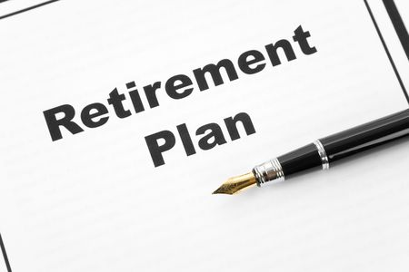 Retirement Plan and pen, business concept Stock Photo - 4890987