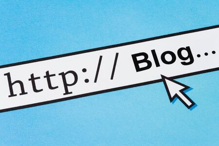 Computer Screen, concept of online blog