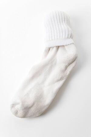 White Socks with white background Banco de Imagens