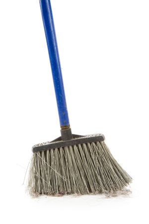 Plastic Broom with white background