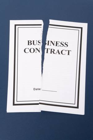 law breaking: Cancel Business Contract, Torn paper