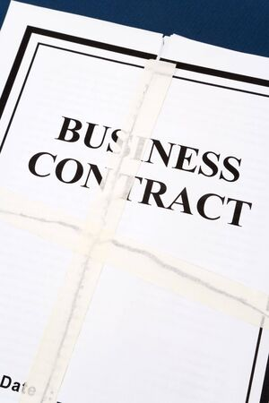 Business Contract, Adhesive Tape and Torn paper Фото со стока - 4982215