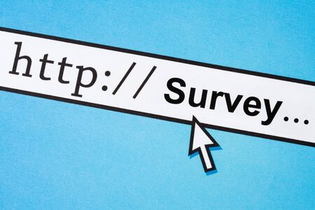 Computerscherm, concept van online-enquête Stockfoto - 5018505