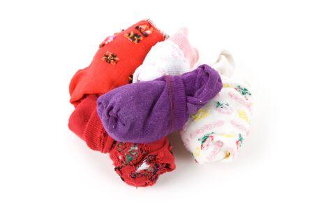 Folded Socks with white background