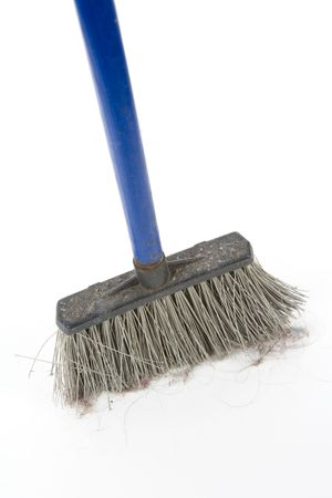 Plastic Broom with white background Reklamní fotografie - 5018531