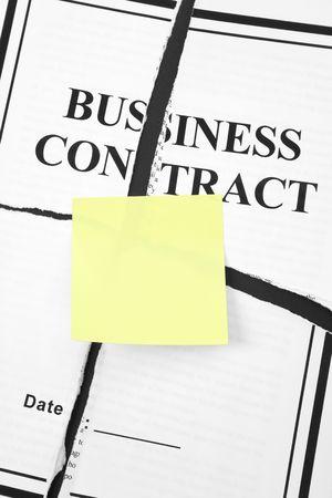 Cancel Business Contract, Torn paper Фото со стока - 5018563