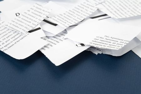 Torn Business Document for background
