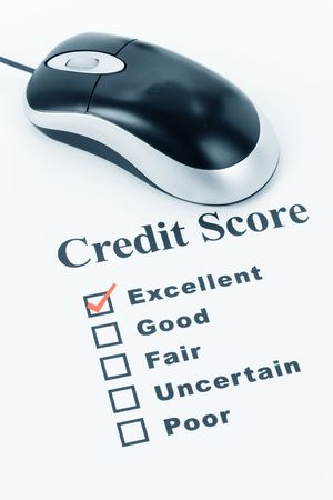 credit report:  Good Credit Score, Business Concept for Background