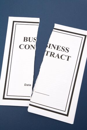 business contract: Cancel Business Contract, Torn paper
