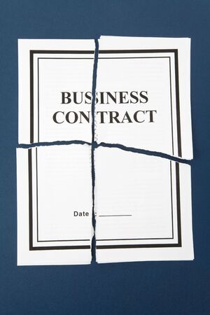 Cancel Business Contract, Torn paper photo