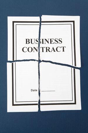 broken contract: Cancel Business Contract, Torn paper