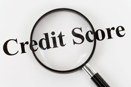 rated: Credit Score and Magnifying Glass