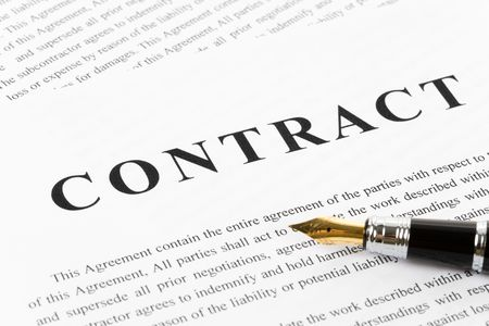 Business Contract and pen close up