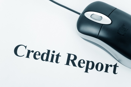 credit report: Credit Score, Business Concept for Background