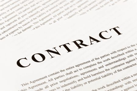 Business Contract close up shot photo