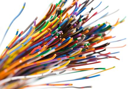 Colorful Cable, Concept of Communication, Data Line photo